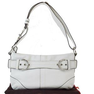 Coach 9412 Leather Shoulder Bag White